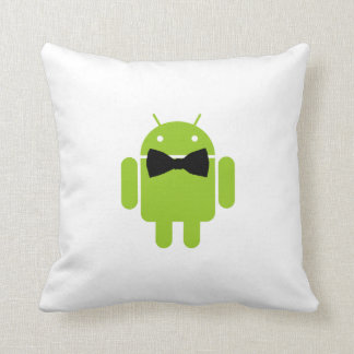 Formal Bow Tie Android Robot Icon Cushion
