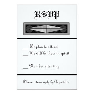 Formal Christian Wedding RSVP 9 Cm X 13 Cm Invitation Card