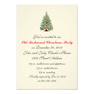 Formal Christmas Party Invitations Tree