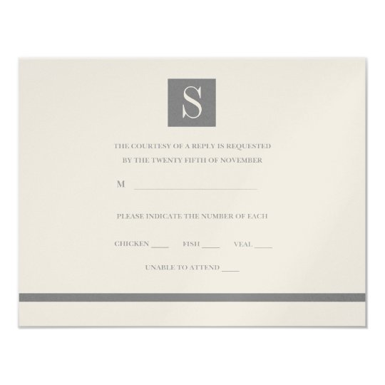 Formal Collection: Holiday Wedding Square RSVP Card