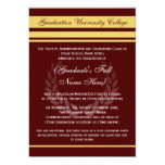 Formal College Graduation Announcements ~ Maroon