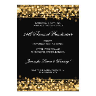 Formal Corporate Fundraiser Party Sparkles Gold Card