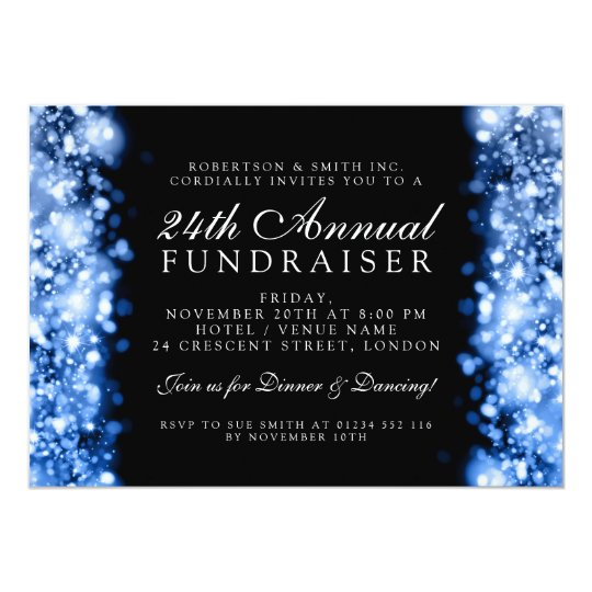 Formal Corporate Party Fundraiser Gala Blue Card