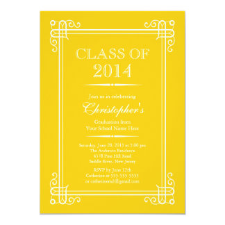 Formal Elegant Class of 2014 Graduation Party Card