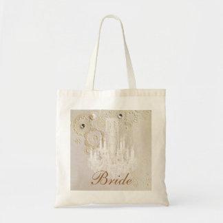Formal elegant swirls chandelier vintage bride bag
