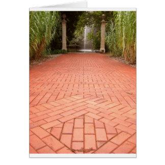 Formal Garden Path to Water Fountain Card