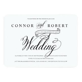 Formal Gay Wedding Invitation in Black & White