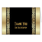 Formal Interview Thank You Card