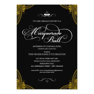 """Formal Masquerade Ball Invitations 5"""" X 7"""" Invitation Card"""