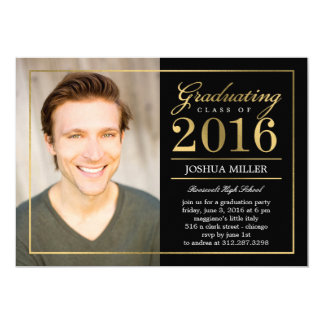 Formal Modern Editable Color Graduation Invitation