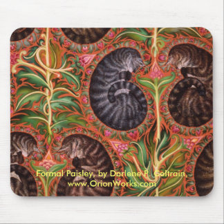 Formal Paisles, Formal Paisley, by Darlene P. C... Mouse Mat
