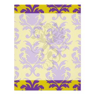 formal royale damask design full color flyer