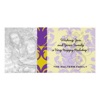 formal royale damask design photo greeting card