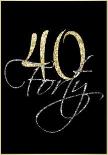 40th birthday invitations zazzle uk formal silver black and gold 40th birthday party invitation filmwisefo