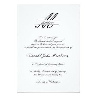Formal Simple - Inaugural Invitation