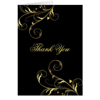 Formal Thank You Cards - Gold and Burgundy