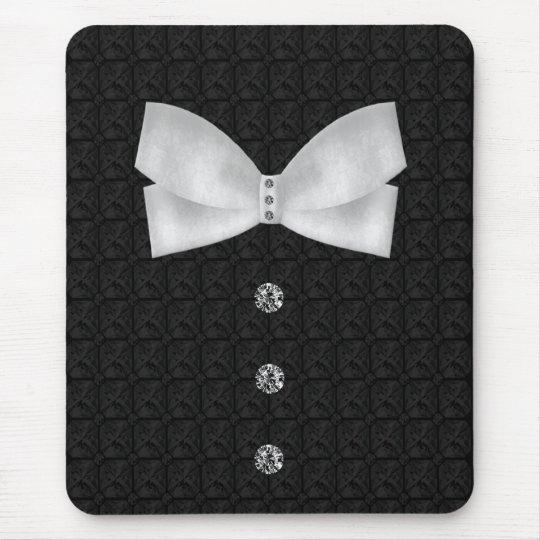 Formal Tuxedo Rhinestone Bow tie  Wedding Mouse Mat