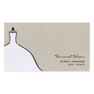 Formal Wear Boutique - Full Wedding Dress Business Cards