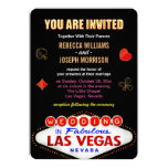 Formal Wedding in Fabulous Las Vegas Sign Poker 13 Cm X 18 Cm Invitation Card