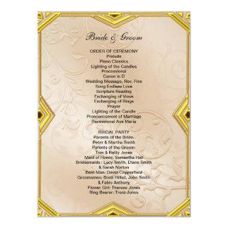 "Formal Wedding Program 6.5"" X 8.75"" Invitation Card"