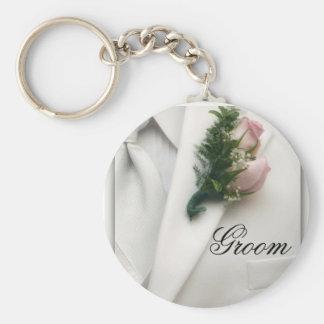 Formal White Tuxedo Keychain