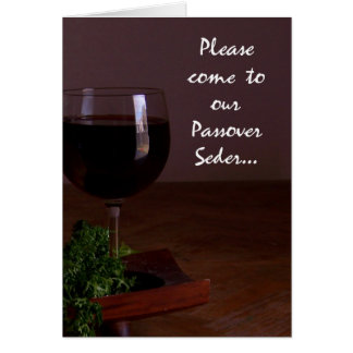 Formal Wine Glass Passover Seder Invitation