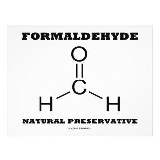 Formaldehyde Natural Preservative Molecule Full Color Flyer