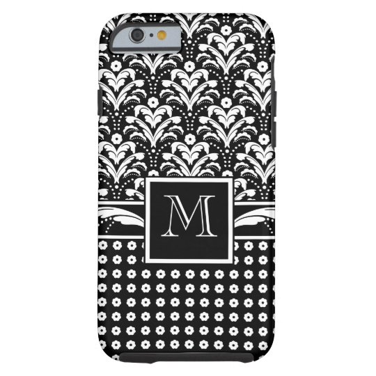 Formale Eleganz-Blumendamast des Kunst-Deko-30s Tough iPhone 6