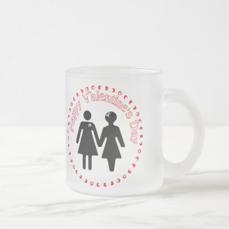 formally girlfriends frosted glass coffee mug