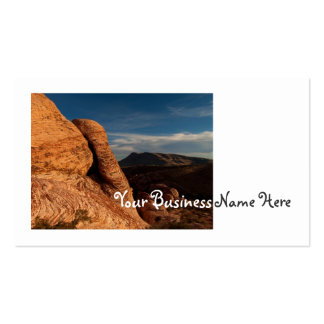 Formations in Red Rock Business Card Template