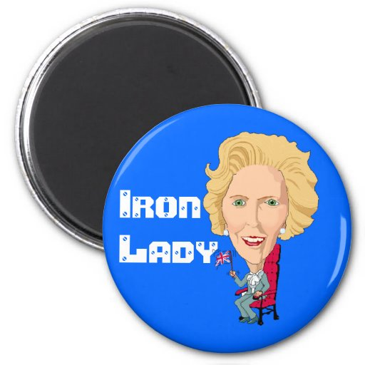 Former British Prime Minister Iron Lady THATCHER 6 Cm Round Magnet