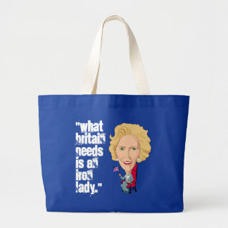 Former British Prime Minister Iron Lady THATCHER Canvas Bags