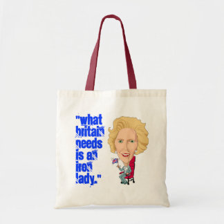 Former British Prime Minister Iron Lady THATCHER Tote Bag