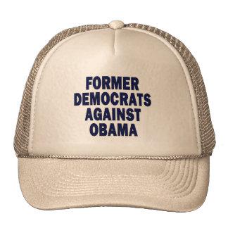 Former Democrats against Obama Hats
