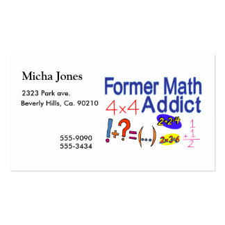 Former Math Addict Pack Of Standard Business Cards