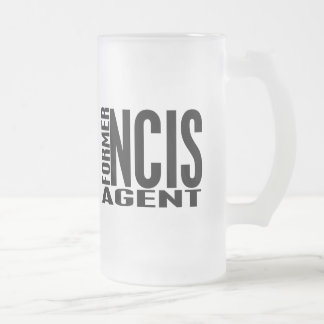 Former NCIS Agent Frosted Glass Beer Mug