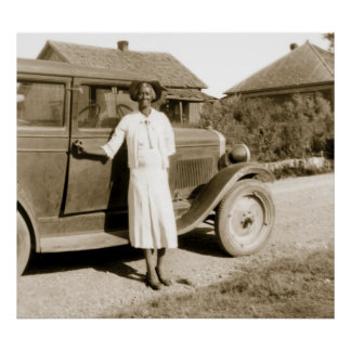 Former Slave with Antique Car, 1930s Poster