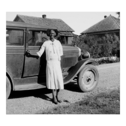 Former Slave with Antique Car, 1930s Print