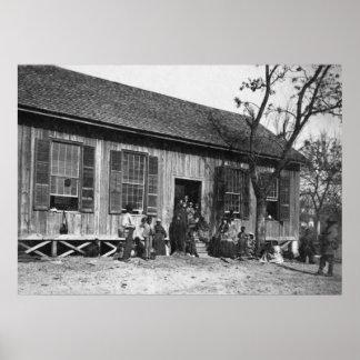Former Slaves in South Carolina, 1860s Poster