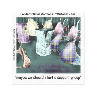 Forming A Support Group Funny Rick London Print Canvas Print