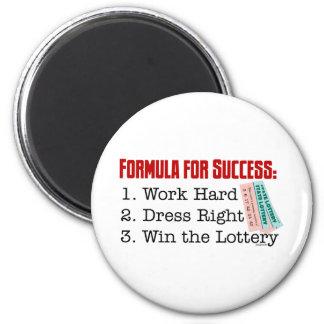 FORMULA FOR SUCCESS 6 CM ROUND MAGNET