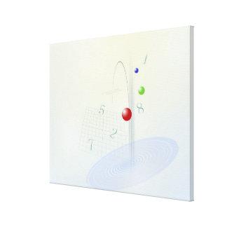 Formula, graph, math symbols 10 canvas print