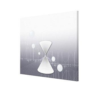 Formula, graph, math symbols 12 canvas print