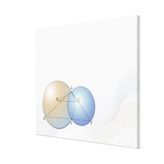 Formula, graph, math symbols 7 canvas print