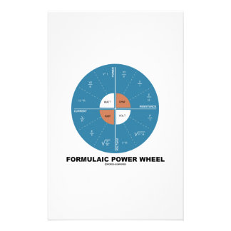 Formulaic Power Wheel (Physics Equations) Personalised Stationery