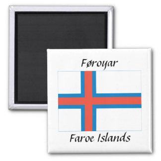 Føroyar - Faroe Islands Flag Refrigerator Magnets