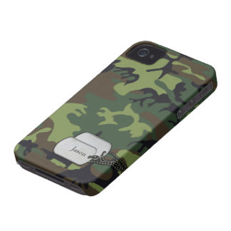 Forrest Green and Brown Military  Camouflage iPhone 4 Case