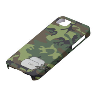 Forrest Green and Brown Military  Camouflage iPhone 5 Cases