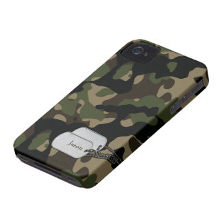 Forrest Trees and Foliage Military Camouflage iPhone 4 Case-Mate Cases