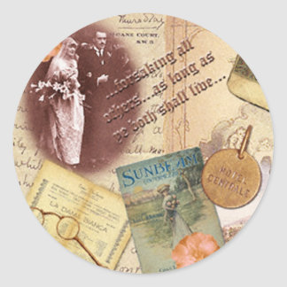 Forsaking All Others Wedding Seal Round Sticker